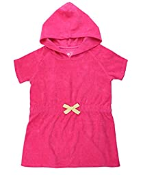 RuffleButts Infant / Toddler Girls Candy Terry Pull Over Hooded Cover-Up - Candy - 18-24m