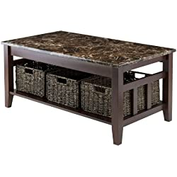 Winsome Wood Faux Marble Top Zoey Coffee Table