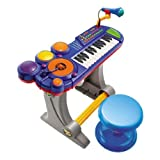 Kids Authority DJ Mixer with Sound synthesizer / Drum set / Keyboard and Microphone - All in one Kids Piano set