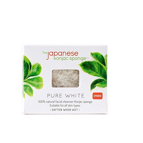 The Japanese Konjac Sponge, Pure White Sponge