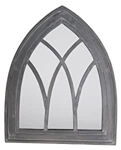 Esschert Design USA WD11 Mirror Gothic, Gray Wash Finish