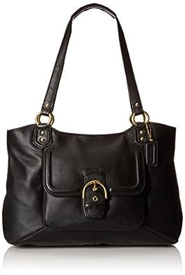 Coach F24961 Campbell Women's Handbag Leather Purse Black