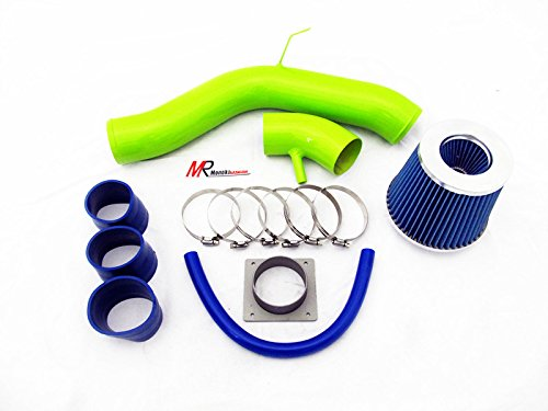 02 03 04 05 06 Nissan Altima 2.5L L4 GREEN Piping Cold Air Intake System Kit with Blue Filter
