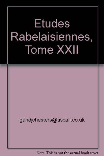 etudes-rabelaisiennes-tome-xxii