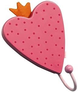 HABA 3062 - Percha en forma de corazón color rosa [Importado de Alemania]