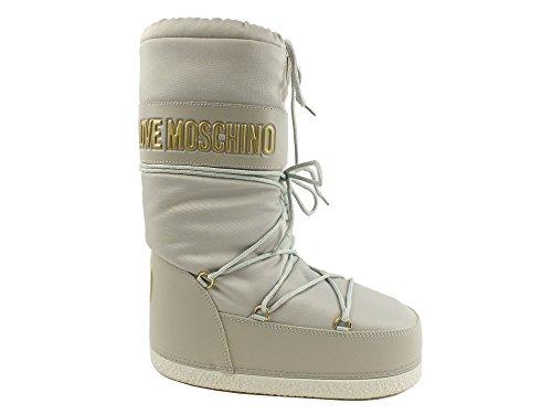 MOSCHINO LOVE Moon Boot donna neve sci stivali TESSUTO GHIACCIO ICE