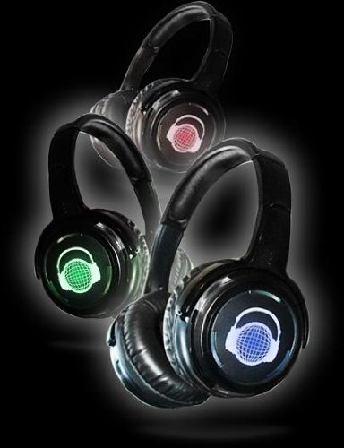 4-Pack Of 3-Channel Wireless Silent Disco Headphones With 1 Rf Transmitter