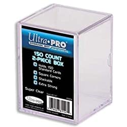 Ultra-Pro 2 Piece 150 Count Snap Lid Box - 1 Box Per Pack (Quantity of 50)