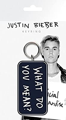 Justin Bieber Keychain Keyring For Fans - What Do You Mean (6 x 3 inches)