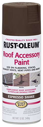 Rust-Oleum 286117 Roof Accessory Spray Paint, 12 oz, Espresso Shake/Brown (Shingle Paint compare prices)