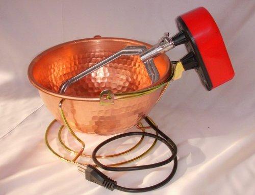 Nuova Fac: Paiolo elettrico in rame martellato (5W) cm.26 - 3 Lt