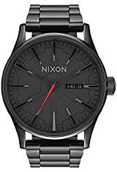 Nixon Men's 'Sentry SS SW, Vader Black' Quartz Stainless Steel Casual Watch (Model: A356SW-2244-00)