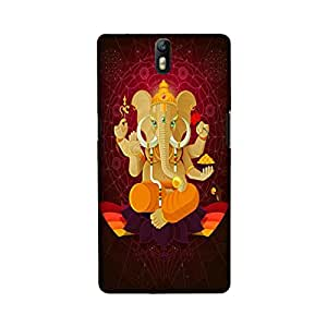OnePlus One Perfect fit Matte finishing Ganesha Religious Mobile Backcover designed by Aaranis(Multicolor)