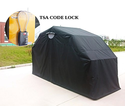 Quictent Heavy Duty Motorcycle Shelter Shed Tourer Cover Storage Garage Tent with TSA Code Lock & Carry Bag (Small/Large Size) (Motorcycle Storage Tent compare prices)