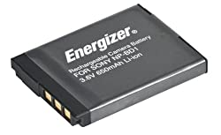 Energizer ENB-SBD Digital Replacement Battery NP-BD1 for Sony DSC-G3 T2 T300 T77 T700 and T900 (Black)