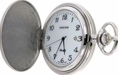 Mens Stainless Pocket Watch by Bariloche Pocket Watches 8628CP-W1