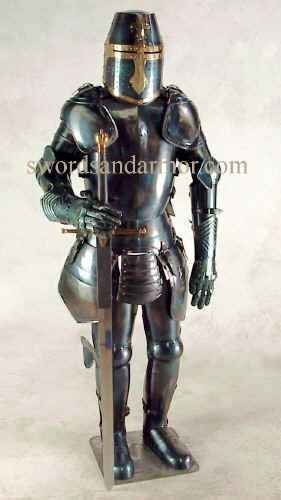 Check Out This Medieval Black Knight Suit of Armor By Nauticalmart