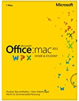 Microsoft Office Mac Home and Student 2011 - 1MAC  - product Key Card ohne Datenträger [import allemand]