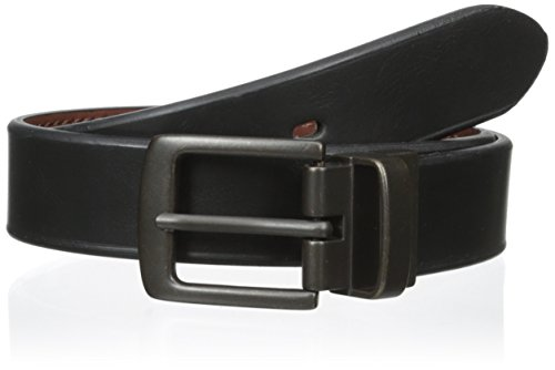 Levi's Boys' 30mm Reversible Beveled Edge Boys Belt, Black/Brown, Small