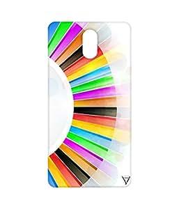 Vogueshell Multi Colour Pattern Printed Symmetry PRO Series Hard Back Case for Lenovo Vibe P1M