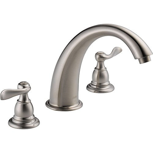 Delta Windemere Stainless Steel Finish Widespread Roman Tub Faucet w/Valve D893V (Metal Soaking Tub compare prices)