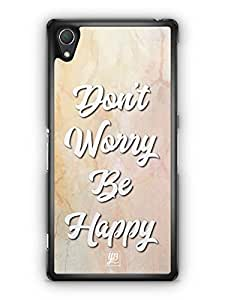 YuBingo Don't Worry. Be Happy Designer Mobile Case Back Cover for Sony Xperia Z2