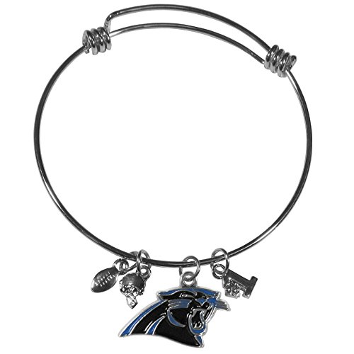 NFL Carolina Panthers Charm Bangle Bracelet