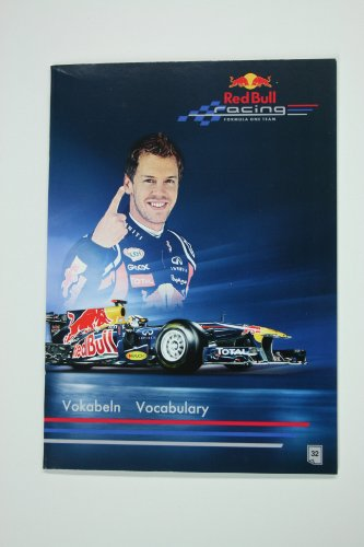 Vokabelheft DinA5 aus der RedBull Vettel-Serie (Motiv: Fahrzeug)