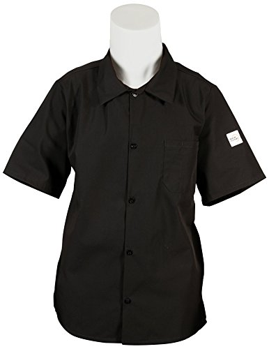 Mercer Culinary M60200BK2X Millennia Unisex Cook Shirt with Wicking Mesh Back, XX-Large, Black (Happy Chef Cap compare prices)