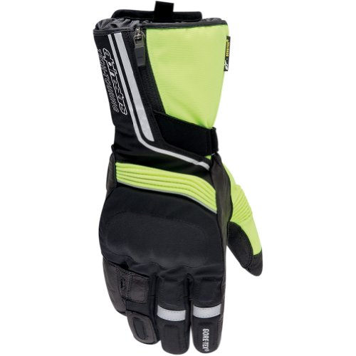 Alpinestars Jet Road Gore-Tex Men's Leather/Textile Street Motorcycle Gloves - Black/Yellow / X-Large
