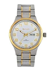 Omax Analog White Dial Mens Watch - SS502