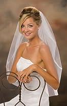 1 Layer Waist Length Wedding Veil w/ Cut Edge