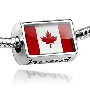quot canada flag quot pandora charm bracelet