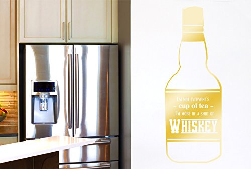 Im Not Everyones Cup Of Tea Im More Of A Shot Of Whiskey Wall Stickers Art Decals - Large (Height 120cm x Width 44cm) (Shiny) Gold
