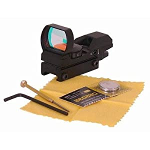 Ultimate Arms Gear Tactical 4 Reticle Red Dot Open Reflex Sight with Weaver-Picatinny Rail Mount