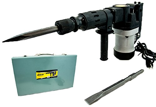 "Electric Demolition Hammer Concrete Breaker W Chisels Bits 3000Bpm 1000W 1-1/2"""