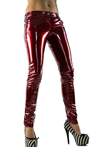 Lip Service Gothic PVC Vinyl Latex Look Red Shiny Skinny Jeans Pants (XL) (Lip Service Vinyl Pants compare prices)