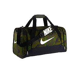 Nike Brasilia 6 Graphic Camo Medium Duffel Bag Treeline/Black/White