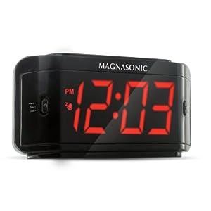Magnasonic Alarm Clock with Hidden Camera