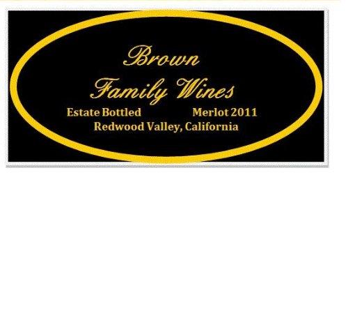 2011 Brown Family Wines Estate Merlot Redwood Valley 750 Ml