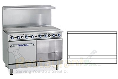 "Imperial Commercial Restaurant Range 48"" Griddle With Standard Oven/Cabinet Nat Gas Ir-G48-Xb"