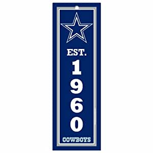 NFL Dallas Cowboys 4-by-13 Wood Sign-Established