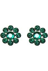 Tarina Tarantino Emerald City Crystal Flower Post Earrings