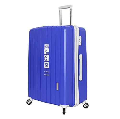 Trolley 4 Ruote SuperFlex L'indistruttibile Pellicano POP Grande Blu con chiusura TSA per Stati Uniti