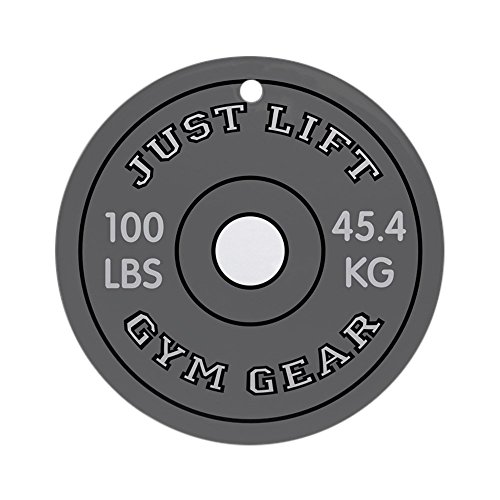 CafePress - JUST LIFT WEIGHT PLATE Ornament (Round) - Round Holiday Christmas Ornament