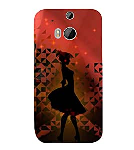 Punch Frock Girl 3D Hard Polycarbonate Designer Back Case Cover for HTC One M8 :: HTC M8 :: HTC One M 8