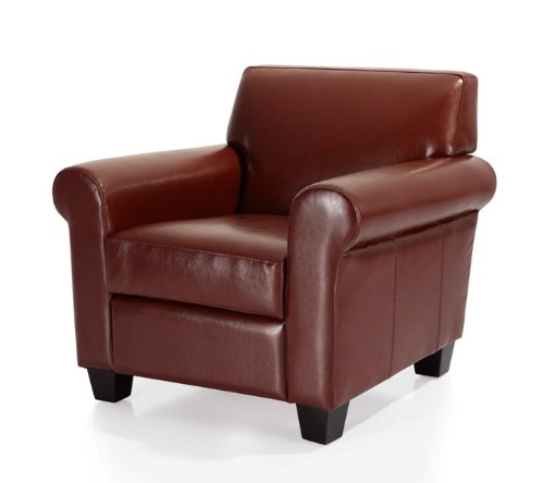 Discount manchester leather classic club chair burgundy for Cheap leather chairs
