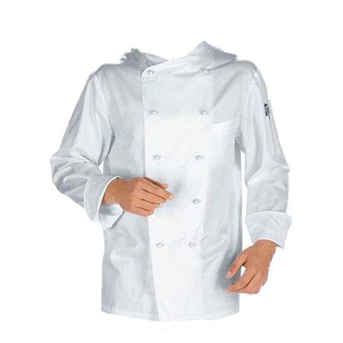 Giacca casacca da cuoco chef cotone bianca con bottoncini divisa classica