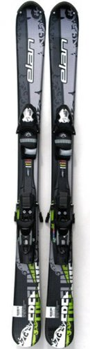 Elan Freeline 135cm Adult Short Skis Twin Tip with ESP10 Release Bindings