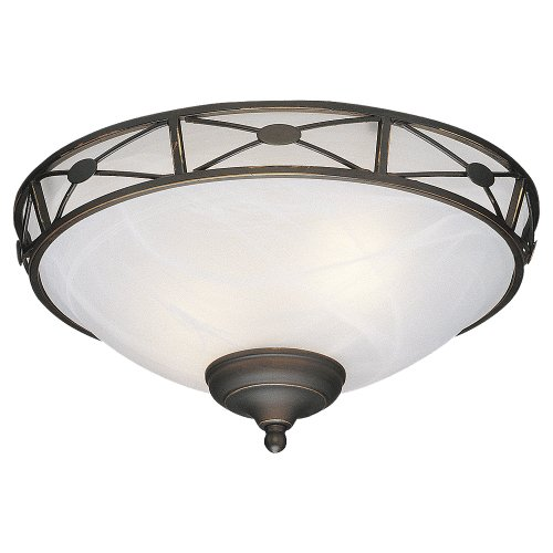 Monte Carlo MC21RB-L Deco Medallion Bowl Light Kit, Roman Bronze Finish